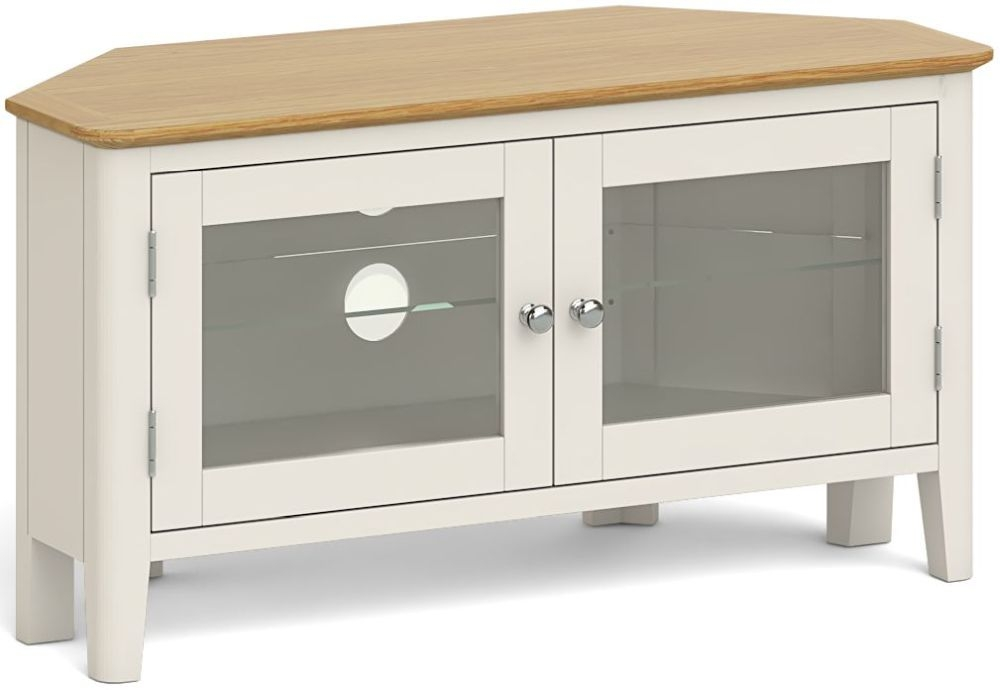Product photograph showing Global Home Ascot Painted Corner Tv Unit
