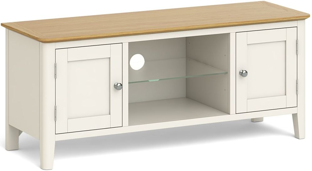 Product photograph showing Global Home Ascot Painted Large Tv Unit