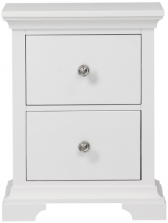 Global Home Ashford White Bedside Cabinet