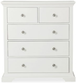 Global Home Ashford White Chest of Drawer - 2 Over 3 Drawer