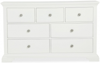 Global Home Ashford White Chest of Drawer - 3 Over 4 Drawer