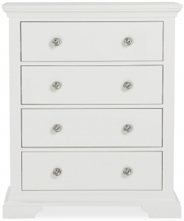 Global Home Ashford White Chest of Drawer - 4 Drawer
