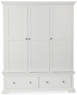 Global Home Ashford White Wardrobe - Triple