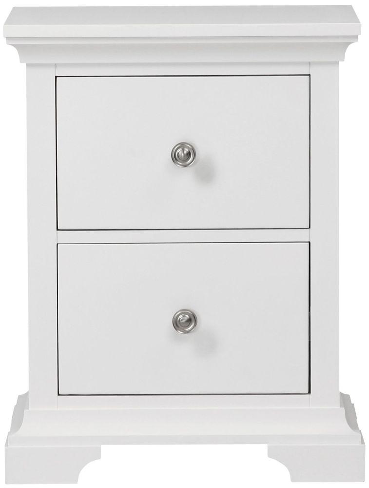 Global Home Ashford White Bedside Cabinet