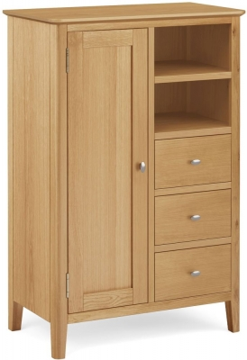 Bath Oak Combination Wardrobe