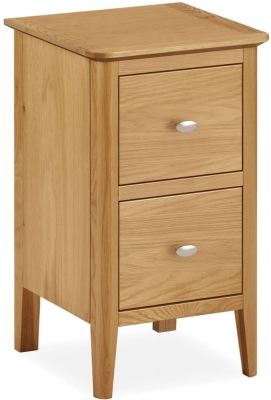 Bath Oak Narrow Bedside Cabinet