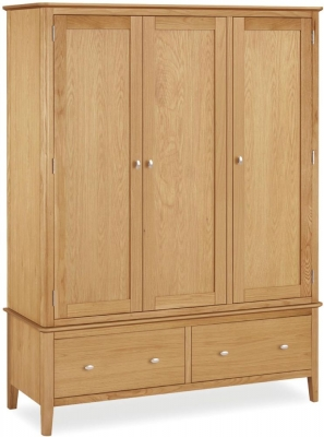 Bath Oak 3 Door Triple Wardrobe