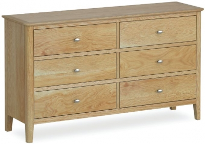 Bath Oak 6 Drawer Chest