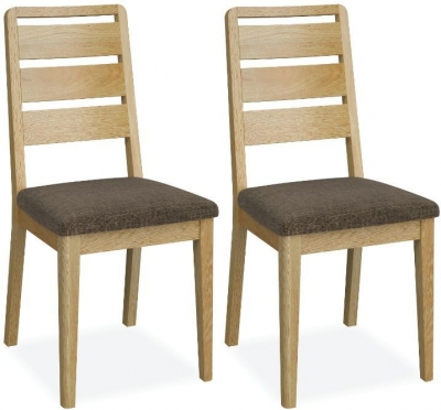 Bath Oak Ladder Back Dining Chair (Pair)