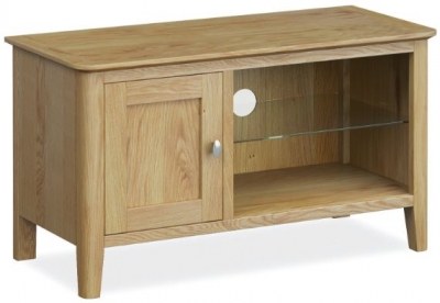 Bath Oak Small TV Unit
