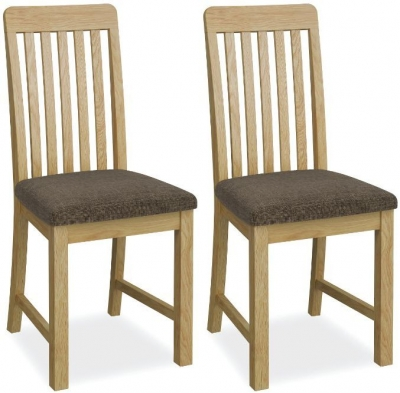 Bath Oak Slatted Dining Chair (Pair)