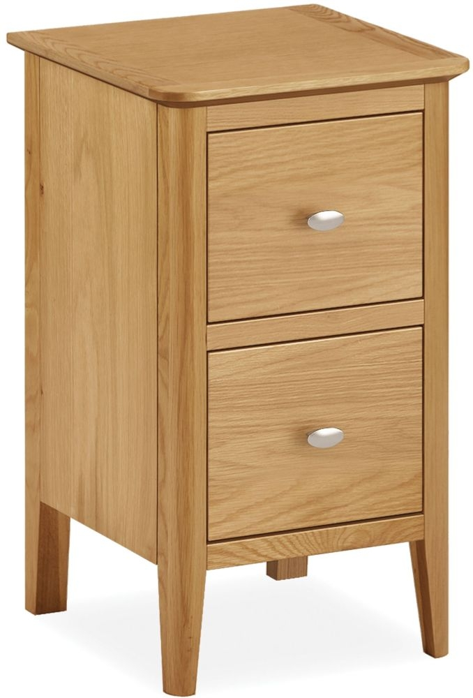 Global Home Bath Oak Narrow Bedside Cabinet