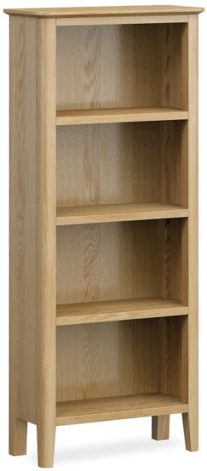 Global Home Bath Oak Narrow Bookcase