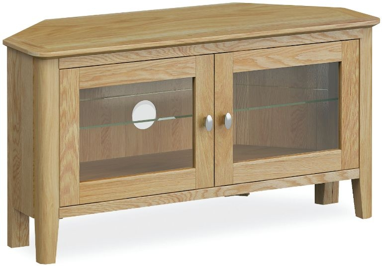 Global Home Bath Oak Corner TV Unit