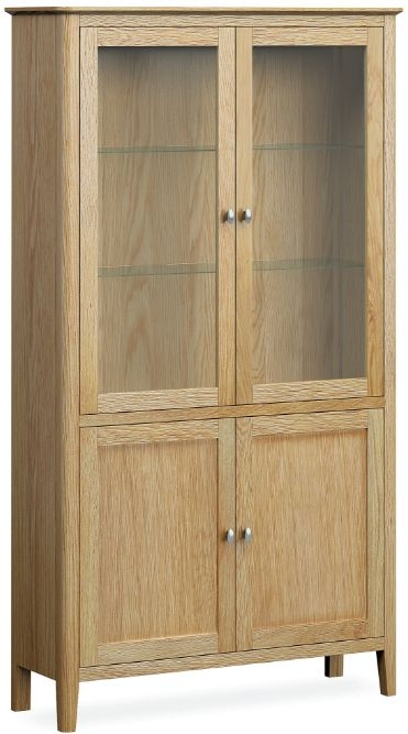 Global Home Bath Oak 4 Door Display Cabinet