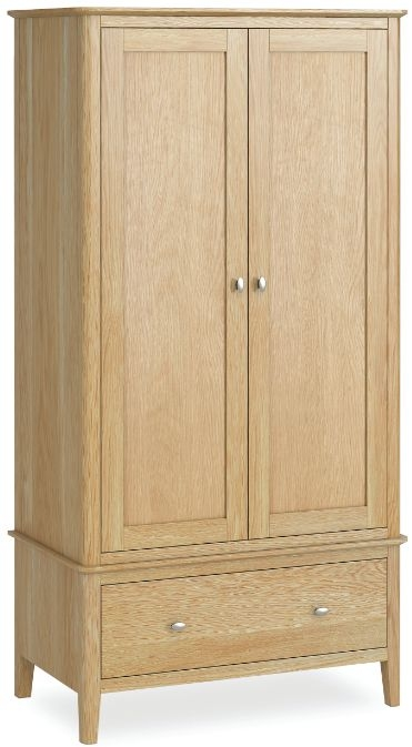 Global Home Bath Oak 2 Door 1 Drawer Wardrobe