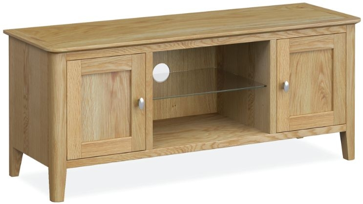 Global Home Bath Oak 2 Door Large TV Unit