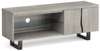 Global Home Brooklyn Grey Oak Large Media Unit