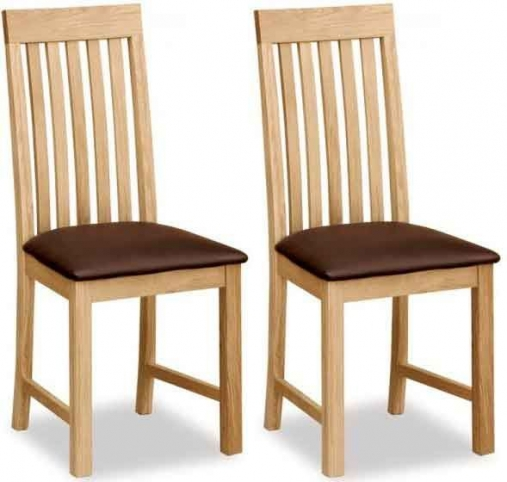 Buy global home burlington oak dining chair vertical slatted pair online cfs uk Global home furniture uk