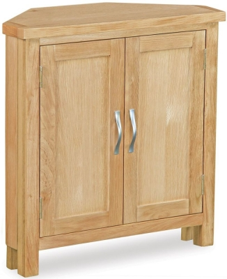 Global Home Burlington Oak Corner Cupboard