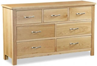 Global Home Burlington Oak Chest of Drawer - 3 Over 4 Drawer