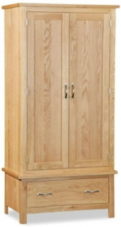 Global Home Burlington Oak Wardrobe - Gents