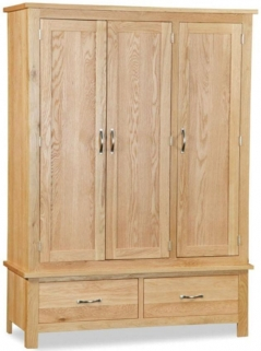 Global Home Burlington Oak Wardrobe - Triple