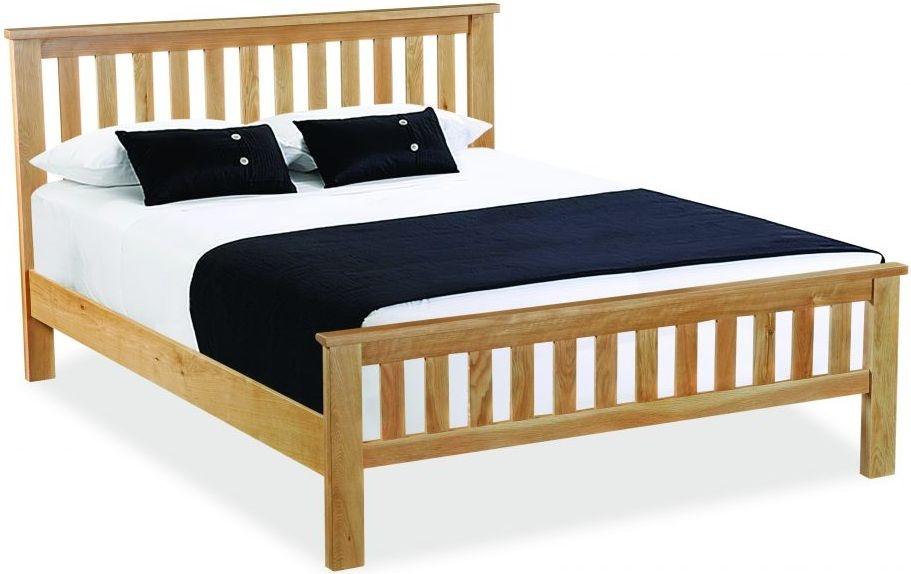 Global Home Burlington Oak Slatted Bed