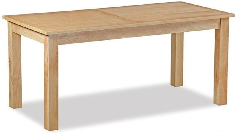 Global home burlington oak dining table small extending Global home furniture uk