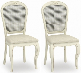 Global Home Charlotte Painted Dining Chair with Fabric Seat (Pair)