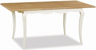 Global Home Charlotte Painted Dining Table - Compact Extending