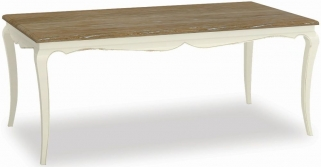 Global Home Charlotte Painted Dining Table - Fixed