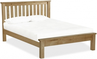 Global Home Cheltenham Oak Bed - Slatted Low Footboard