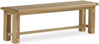 Global Home Cheltenham Oak Bench - Large Cross Leg