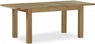 Global Home Cheltenham Oak Dining Table - Large Butterfly Extending