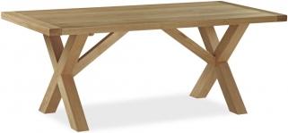 Global Home Cheltenham Oak Dining Table with Cross Leg - 190cm Rectangular Fixed Top