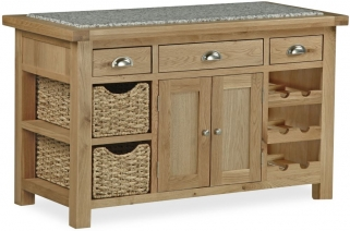 Global Home Cheltenham Oak Kitchen Island