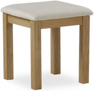 Global Home Cheltenham Oak Stool with Fabric Seat