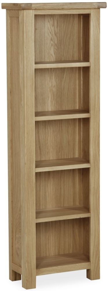 Global Home Cheltenham Oak Bookcase - Narrow