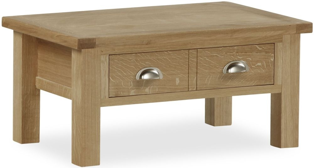 Global Home Cheltenham Oak Coffee Table with Drawer