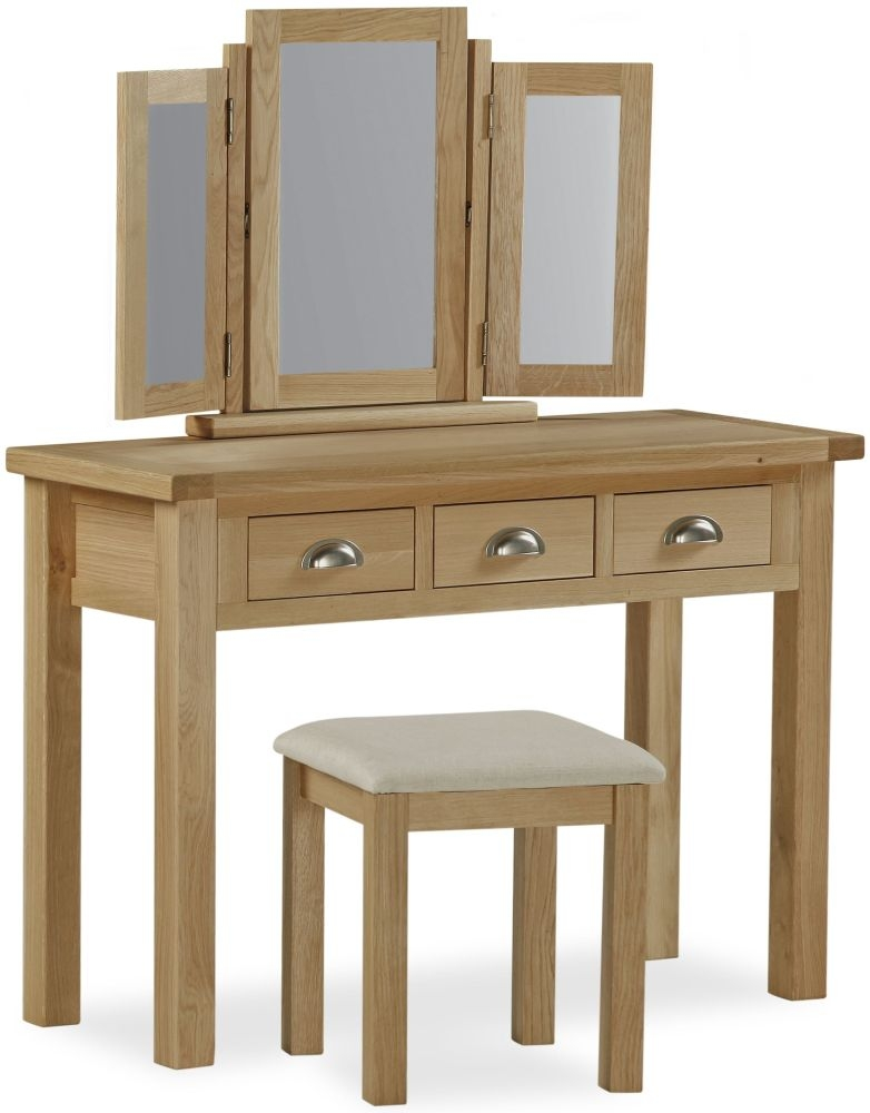 Global home cheltenham oak dressing set Global home furniture uk
