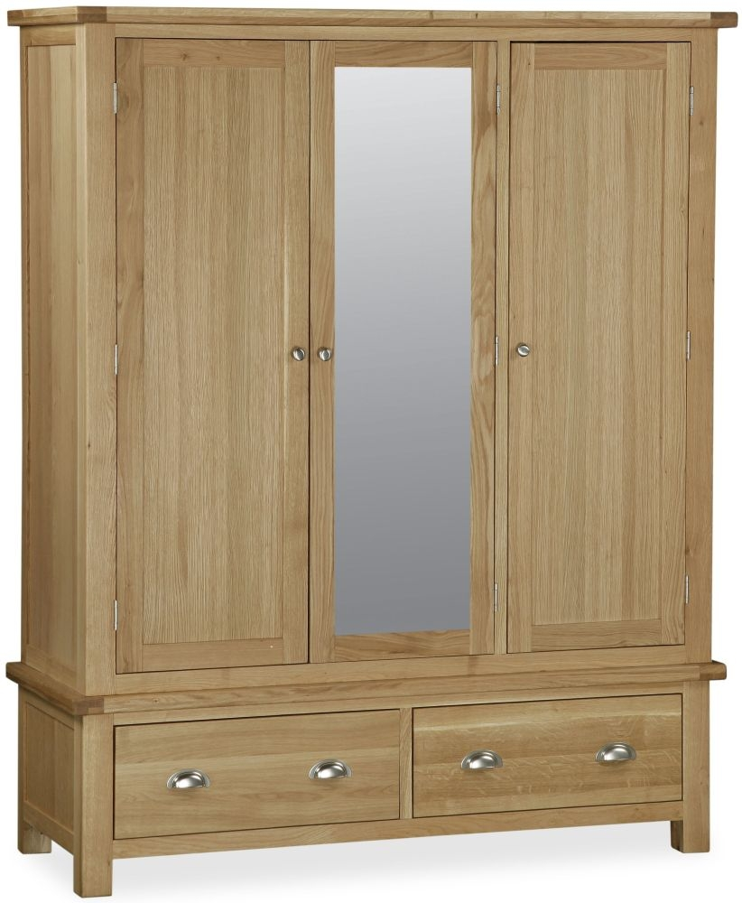 Global Home Cheltenham Oak Wardrobe - Wide Mirror