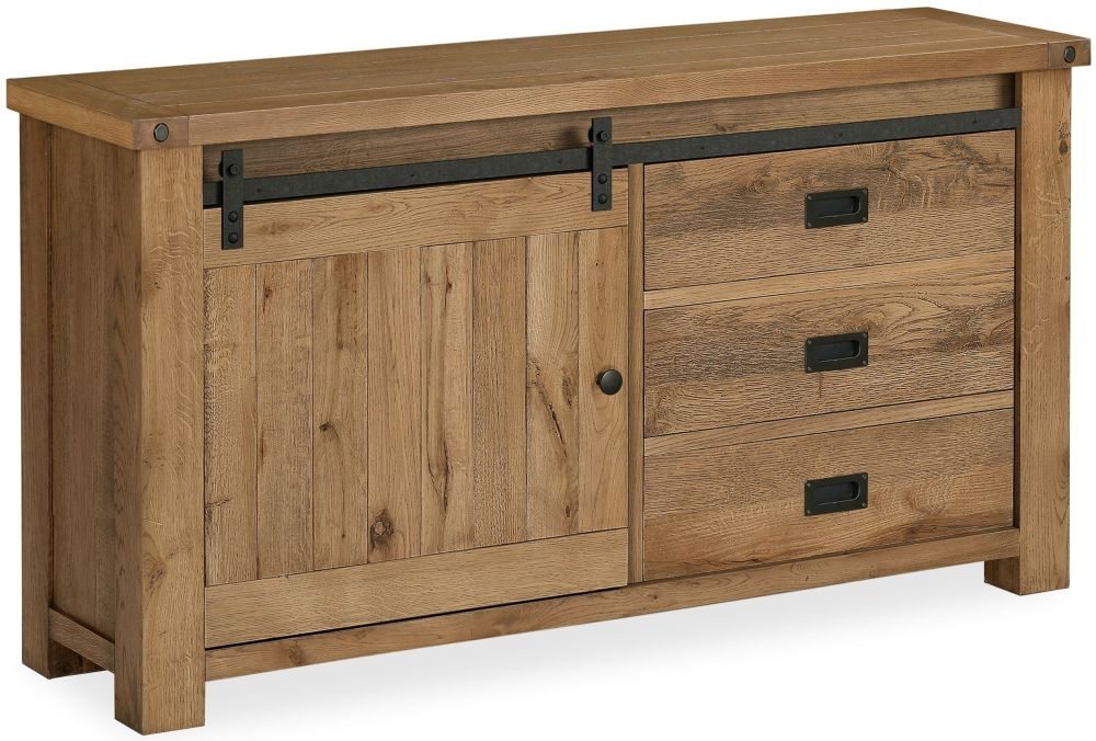 Global Home Chesapeake Oak 1 Door 3 Drawer Sideboard