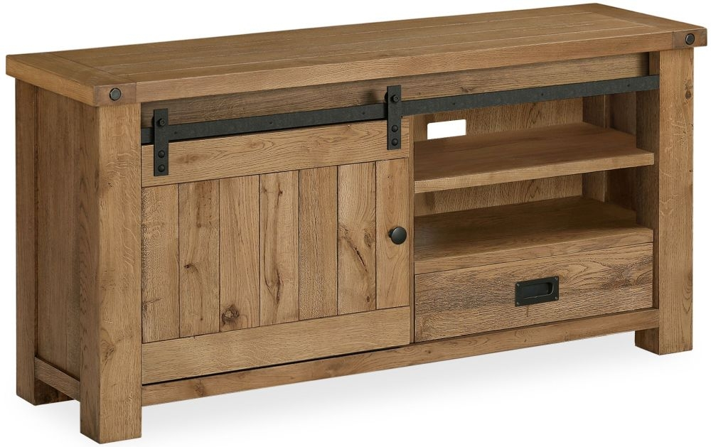 Global Home Chesapeake Oak 1 Door 1 Drawer TV Unit
