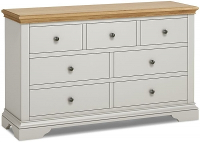 Global Home Chester Oak and Soft Grey Painted 4+3 Drawer Chest