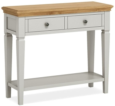 Global Home Chester Oak and Soft Grey Painted Console Table