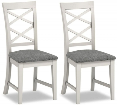 Chester Grey Painted Cross Back Dining Chair (Pair)