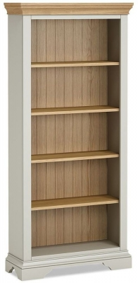 Global Home Chester Oak and Soft Grey Painted Large Bookcase