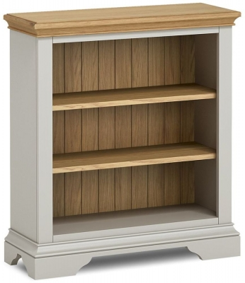 Global Home Chester Oak and Soft Grey Painted Low Bookcase