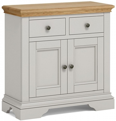 Global Home Chester Oak and Soft Grey Painted Mini Sideboard